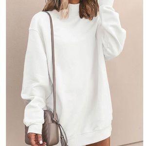 Off White sweat shirt dress